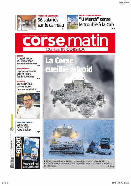 Corse matin 24 01 2019 1